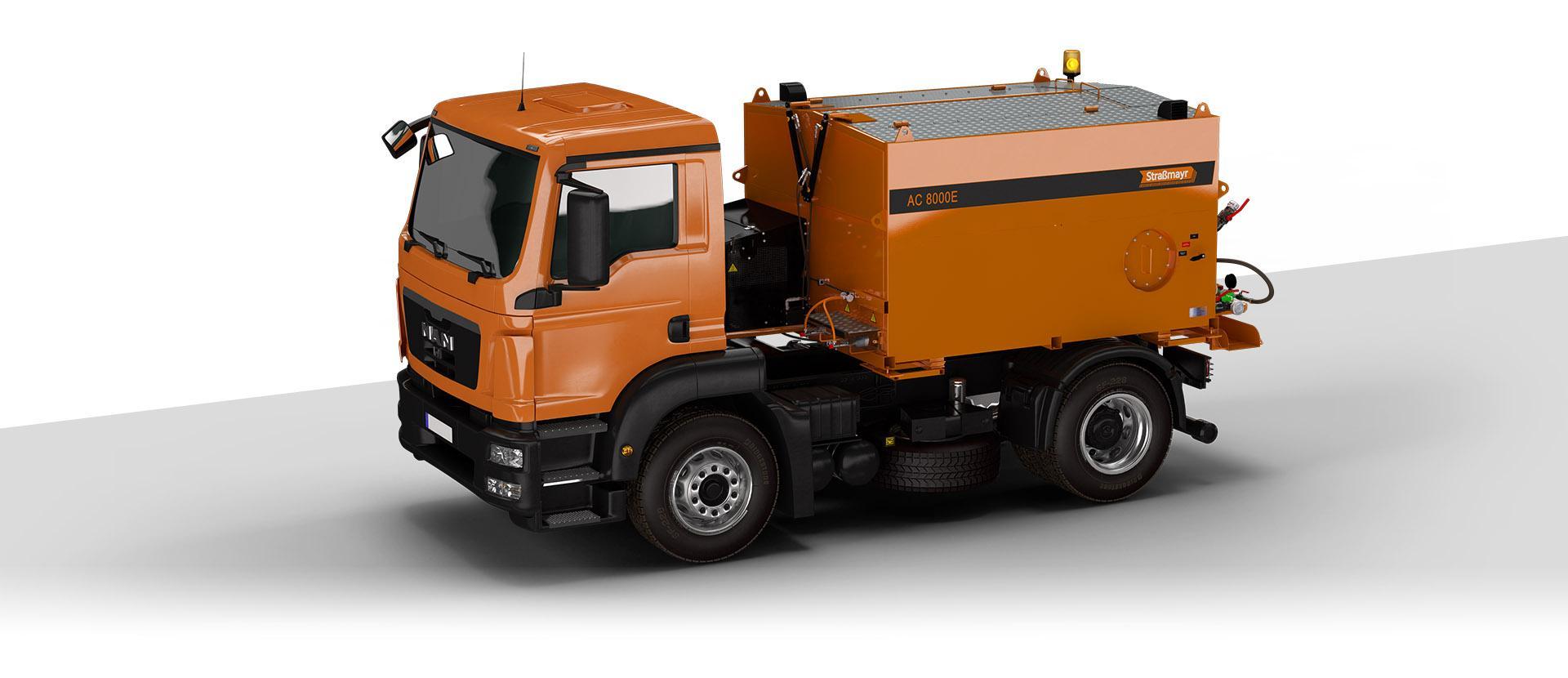 Оборудование для транспортировки, обогрева и распределения асфальтобетонной смеси STRASSMAYR AC 8000 E THERMOS.
